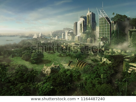 post · apocalyptische · toekomst · man · overlevende · gasmasker - stockfoto © adam121