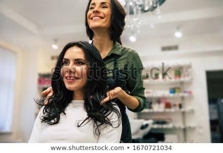 girl gets styling Stock photo © adrenalina