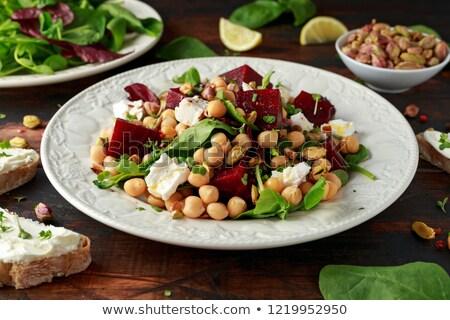健康 混合した サラダ フェタチーズ トースト レタス ストックフォト © ozgur
