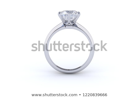Zdjęcia stock: Side View Diamond Wedding Band Ring