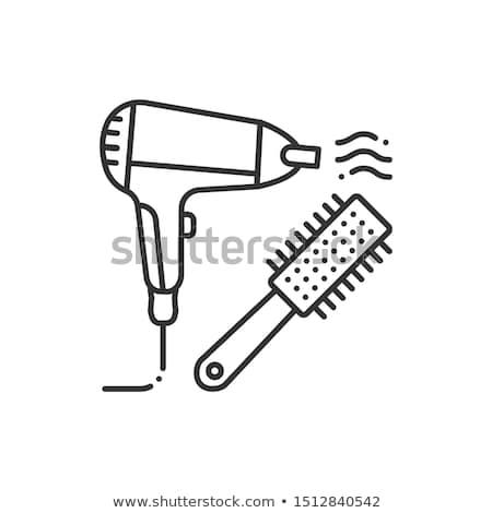 equipamento · ícone · ilustração · vetor · monocromático - foto stock © angelp