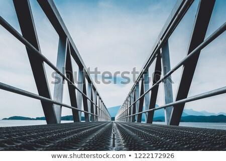 гальванизированный моста небольшой стали пластина зеленый Сток-фото © shime