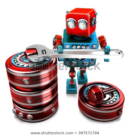 robot · Sunucu · teknisyen · teknoloji · adam - stok fotoğraf © kirill_m