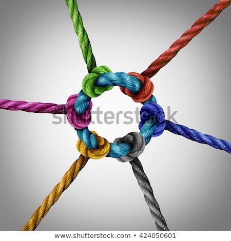 ring · mensen · samen · technologie · web - stockfoto © lightsource