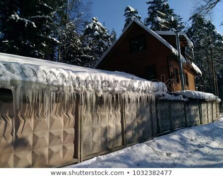 реальный мороз ледяной снега природного льда Сток-фото © Anterovium