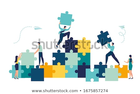team building concept icon flat design stock photo © wad