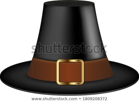 Klasszikus kalap zarándok pop art retro hagyományos Stock fotó © studiostoks
