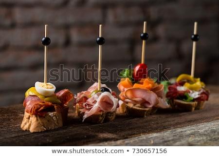 Tapas Spanish food Stock photo © Komar