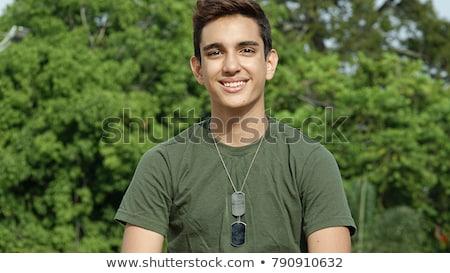 молодые · солдата · иллюстрация · белый · фон · мальчика - Сток-фото © bluering
