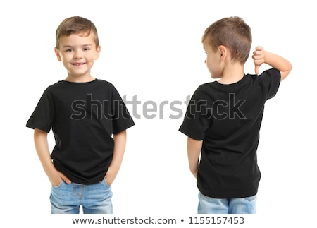 Empty template with a boy Stock photo © bluering