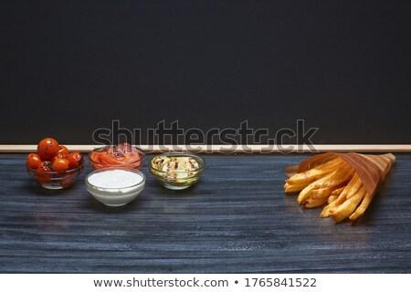 mártás · öntet · vegetáriánus · hamburger · zöldségek · copy · space - stock fotó © faustalavagna