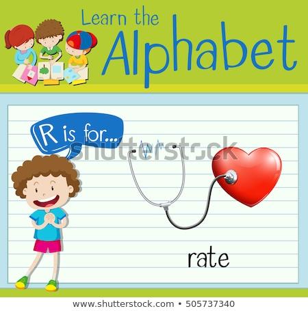 Lettera r tasso illustrazione ragazzi bambino sfondo Foto d'archivio © bluering