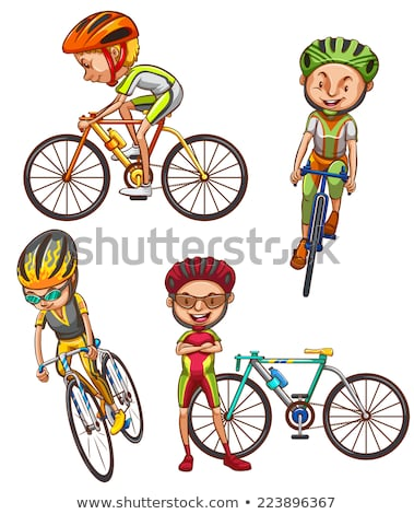 A plain sketch of a cyclist Stock photo © bluering