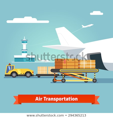 Aircraft Baggage and Cargo Handling Tractors Stock photo © 5xinc