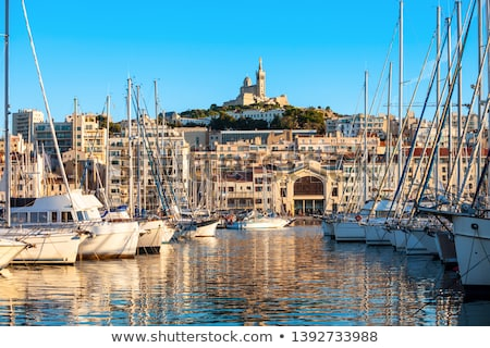 Vieux port - Old Port in Marseille Stock photo © benkrut