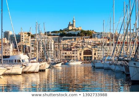 vecchio · porta · Marsiglia · Francia · acqua · nubi - foto d'archivio © benkrut