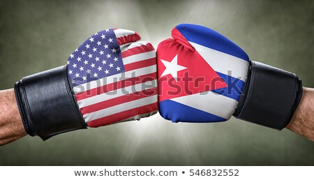 a boxing match between the usa and cuba stock photo © zerbor