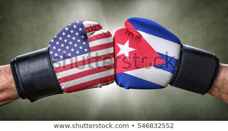 Box gyufa USA Kuba üzlet zászló Stock fotó © Zerbor