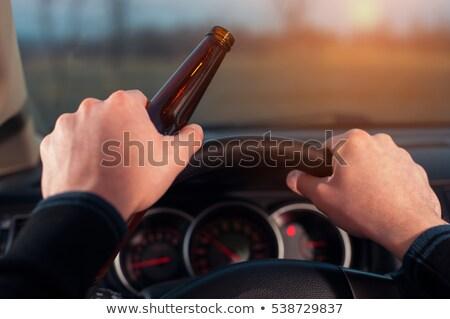 Jazdy wpływ kierowcy symbol grupy Zdjęcia stock © Lightsource