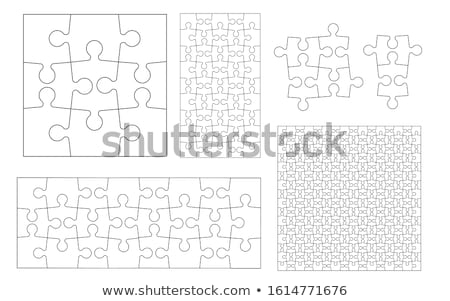 Stock photo: Set of different jigsaw puzzle piece shapes