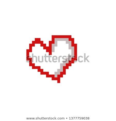 Piros absztrakt szív terv esküvő szeretet Stock fotó © Genestro