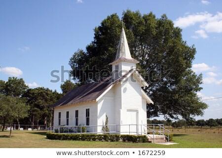 небольшой сельский Церкви Техас кладбища большой Сток-фото © BrandonSeidel