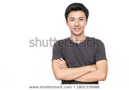 Portret mannelijke nerd grappig bril Stockfoto © deandrobot