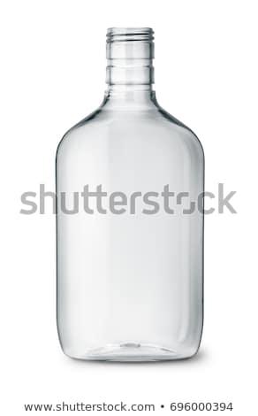 Zdjęcia stock: Pusty · szkła · butelki · odizolowany · przezroczysty