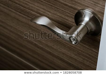 鋼 ドア テクスチャ 金属 レバー 古い ストックフォト © mmarcol