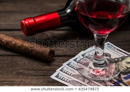 luxe · cubaans · sigaren · geld · houten · bureau - stockfoto © capturelight