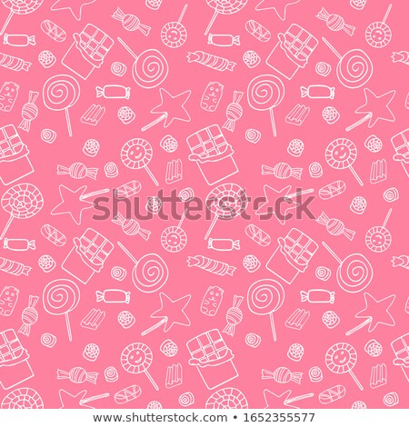 Candies Seamless Pattern. Lollipops and Bonbons Stock photo © robuart