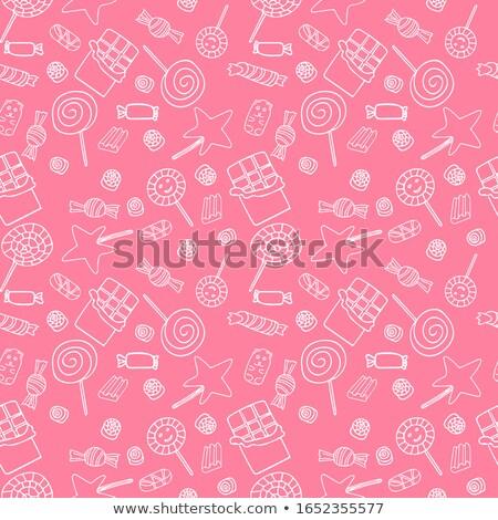 csokoládé · cukorkák · vektor · végtelen · minta · papír · absztrakt - stock fotó © robuart