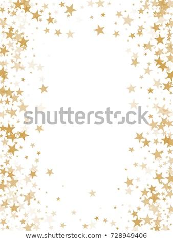 abstract · oranje · zon · stralen · sterren - stockfoto © timurock