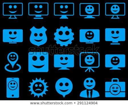 Werkzeuge Zahnräder lächelt Symbole Set Stil Stock foto © ahasoft