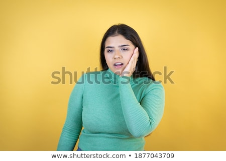 Primo piano donna forte mal di denti dolore mani Foto d'archivio © Nobilior