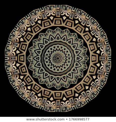 Mandala decoratie etnische stijl bloem ontwerp Stockfoto © SArts