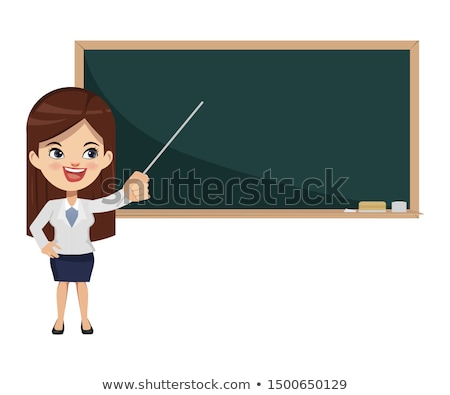 Businessman or teacher with a pointer Stock photo © NikoDzhi