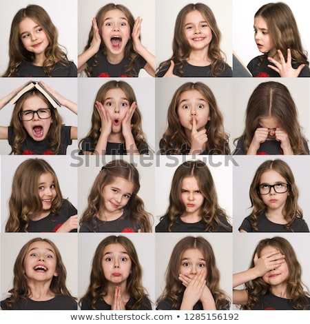 photo of the girl with a different emotions on face stock photo © master1305