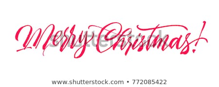 Hand drawn calligraphy. concept handwritten we wish you a merry christmas Stock photo © wywenka
