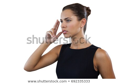 Close up of thoughtful businesswoman gesturing while looking away Stock photo © wavebreak_media