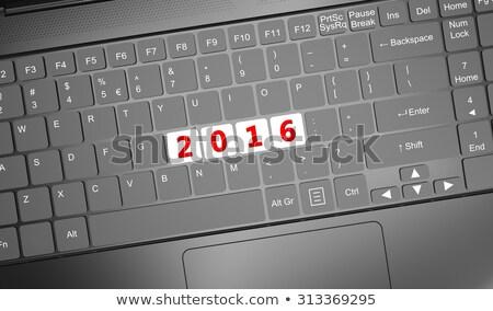 клавиатура красный 2016 3d визуализации тонкий Сток-фото © tashatuvango