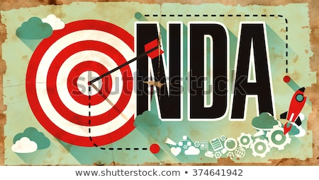 NDA Concept. Poster in Flat Design.  Stock photo © tashatuvango