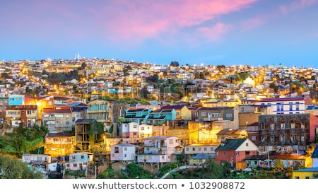 Foto stock: Cityscape · colorido · velho · casas · cidade · Chile