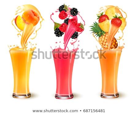 アプリコット ジュース 新鮮な 果物 葉 食品 ストックフォト © yelenayemchuk