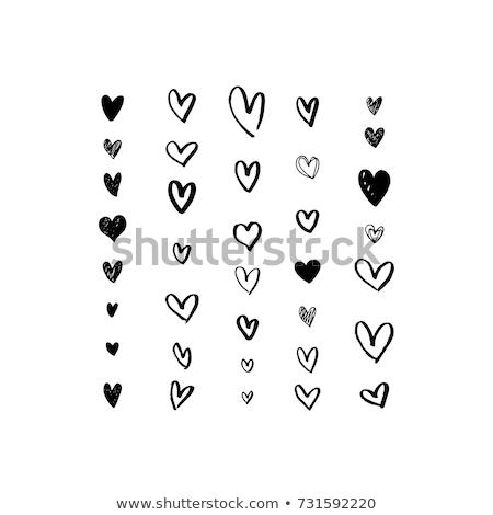Mãos desenho forma de coração topo ver vermelho Foto stock © Sonya_illustrations