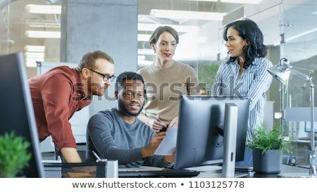 Problémamegoldás laptop tárgyalóterem közelkép leszállás oldal Stock fotó © tashatuvango