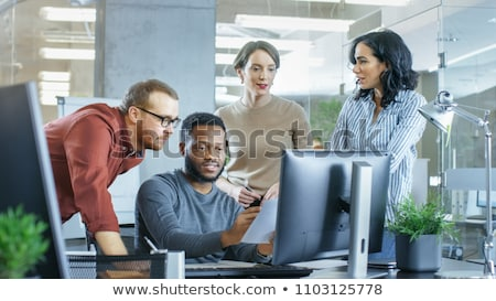 Problem Solving on Laptop in Meeting Room. Stock photo © tashatuvango