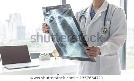 Diagnóstico hipertensión médicos borroso texto estetoscopio Foto stock © tashatuvango