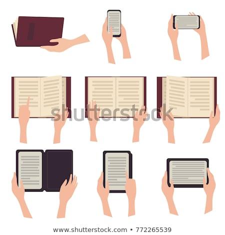 Nowoczesne ebook czytelnik strony odizolowany biały Zdjęcia stock © digitalr