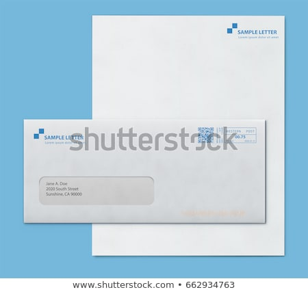 Mockup post envelope and letter paper template Stock photo © oblachko